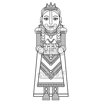 Stamplistic Cling Stamp COUNTESS CHESTNUT m190803