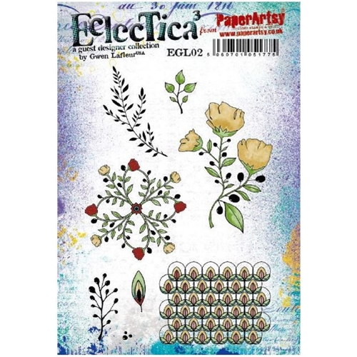 Paper Artsy ECLECTICA3 GWEN LAFLEUR 02 Cling Stamp egl02 Preview Image