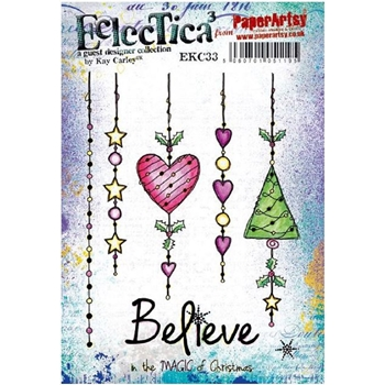 Paper Artsy ECLECTICA3 KAY CARLEY 33 Cling Stamp ekc33