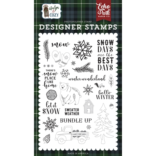 Echo Park SNOW DAYS Clear Stamps wc194043 Preview Image