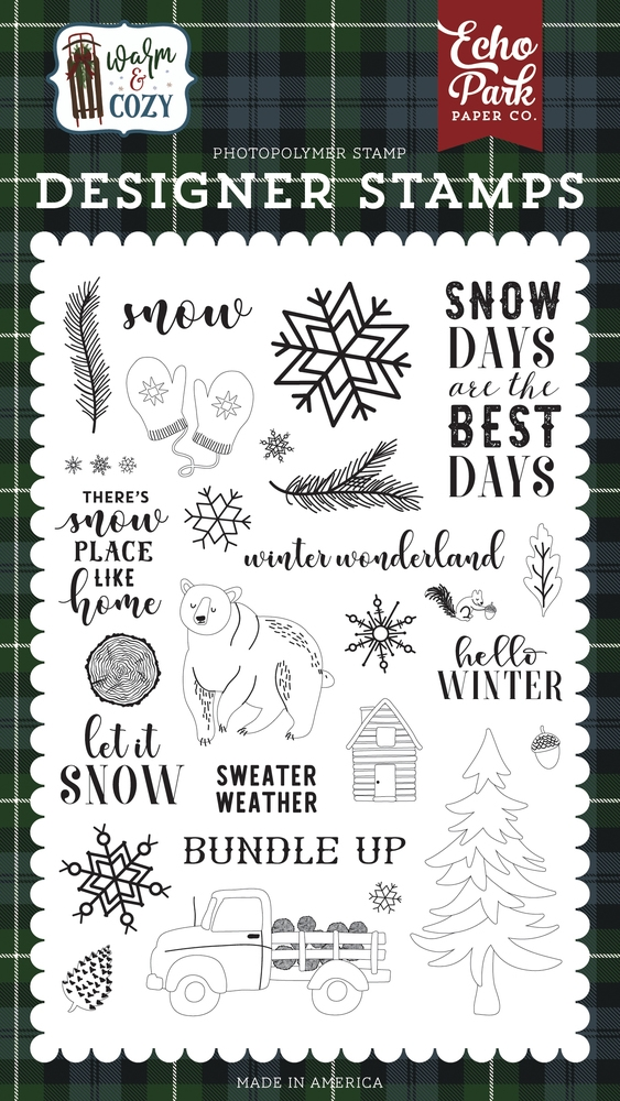Echo Park SNOW DAYS Clear Stamps wc194043 zoom image