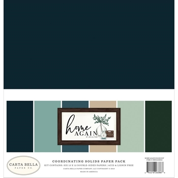 Carta Bella HOME AGAIN 12 x 12 Solids Kit cbhoa109015