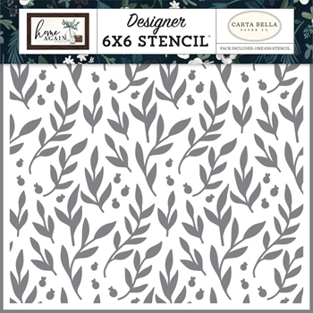 Carta Bella GATHER BRANCHES 6 x 6 Stencil cbhoa109033