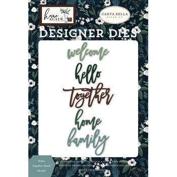 Carta Bella HOME TOGETHER WORD Dies Set cbhoa109041*