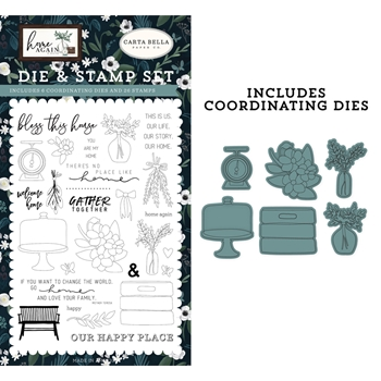 Carta Bella GATHER TOGETHER Die And Stamp Set cbhoa109042
