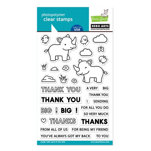Hero Arts Partnership Clear Stamps Lawn Fawn BIG THANKS PR103 Preview Image