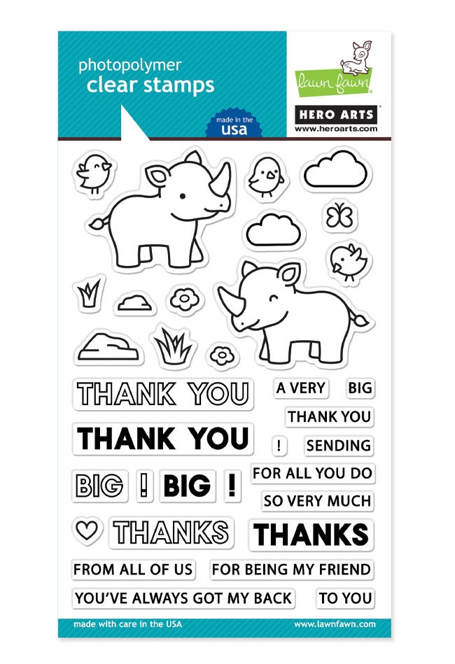 Hero Arts Partnership Clear Stamps Lawn Fawn BIG THANKS PR103 zoom image