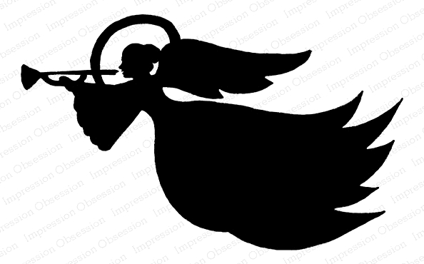 Impression Obsession Cling Stamp ANGEL SILLHOUETTE 1 F23042 zoom image