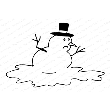 Impression Obsession Cling Stamp MELTING SNOWMAN F23045