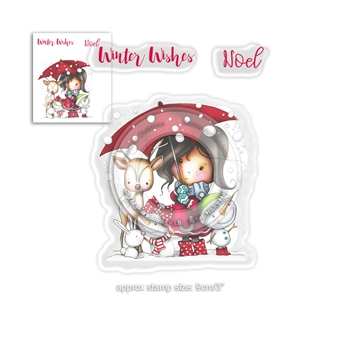 Polkadoodles WINNIE WINTER WISHES Clear Stamps pd7960
