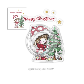 Polkadoodles WINNIE O CHRISTMAS TREE Clear Stamps pd7961