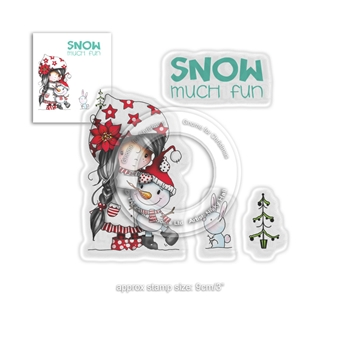 Polkadoodles WINNIE SNOW MUCH FUN Clear Stamps pd7963
