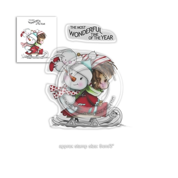 Polkadoodles WINNIE MOST WONDERFUL TIME Clear Stamps pd7964