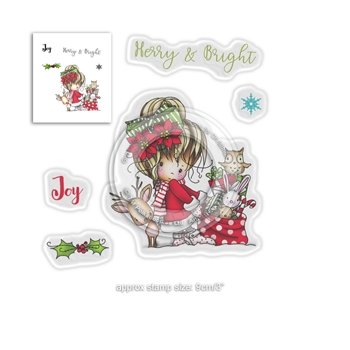 Polkadoodles WINNIE MERRY AND BRIGHT Clear Stamps pd7965