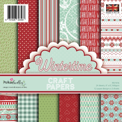 Polkadoodles WINTERTIME 6x6 Paper Pack pd7976 Preview Image