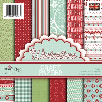 Polkadoodles WINTERTIME 6x6 Paper Pack pd7976