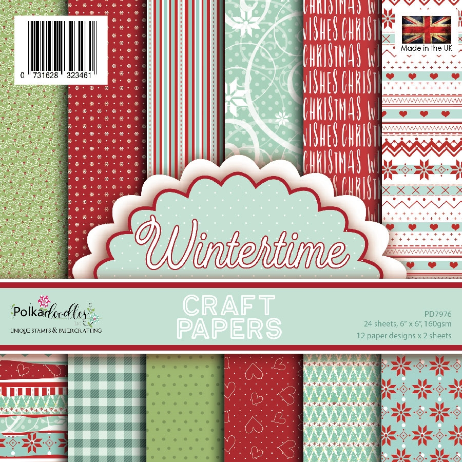 Polkadoodles WINTERTIME 6x6 Paper Pack pd7976 zoom image