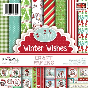 Polkadoodles WINTER WISHES 6x6 Paper Pack pd7975