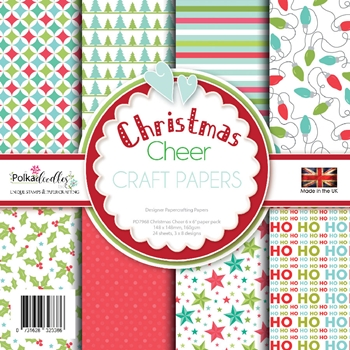 Polkadoodles CHRISTMAS CHEER  6x6 Paper Pack pd7968