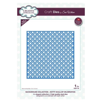 Creative Expressions DOTTY SCALLOP CELBRATION Sue Wilson Background Collection ced7119