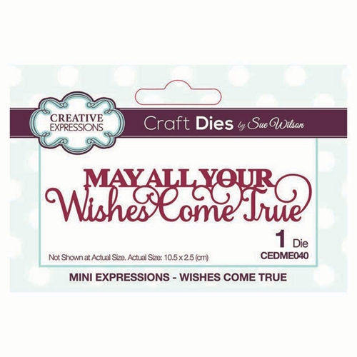 Creative Expressions WISHES COME TRUE Sue Wilson Mini Expressions Die cedme040 Preview Image