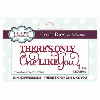 Creative Expressions THERE'S ONLY ONE LIKE YOU Sue Wilson Mini Expressions Die cedme043