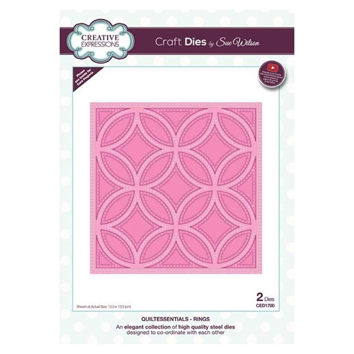 Creative Expressions RINGS Sue Wilson Quiltessentials Collection Dies ced1700 Preview Image