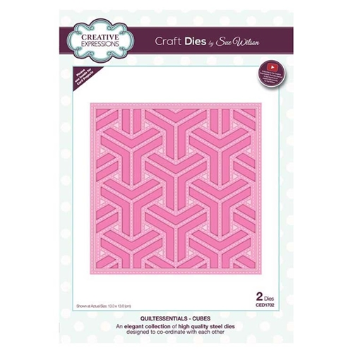 Creative Expressions CUBES Sue Wilson Quiltessentials Collection Dies ced1702* Preview Image