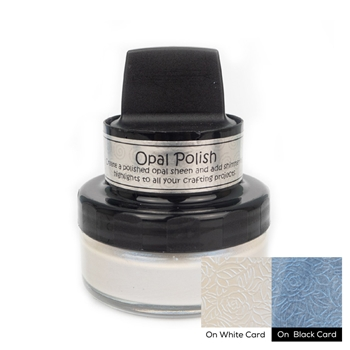 Cosmic Shimmer BLUE PEARL Opal Polish With Applicator csopbpearl