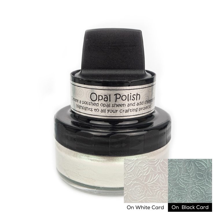 Cosmic Shimmer GREEN PEARL Opal Polish With Applicator csopgreen zoom image