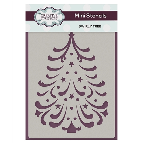 Creative Expressions SWIRLY TREE Mini Stencil cemsstree Preview Image
