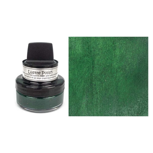 Cosmic Shimmer GLITZY GREEN Lustre Polish With Applicator cslugreen Preview Image