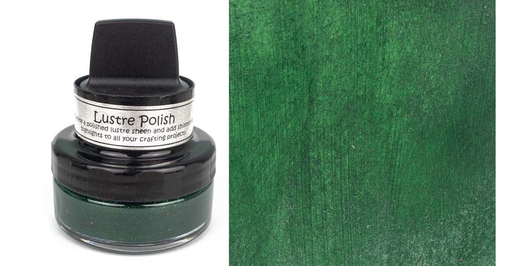 Cosmic Shimmer GLITZY GREEN Lustre Polish With Applicator cslugreen zoom image