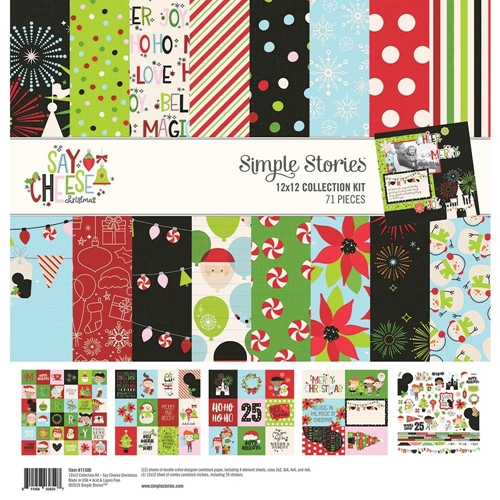 Simple Stories SAY CHEESE CHRISTMAS 12 x 12 Collection Kit 11500 Preview Image