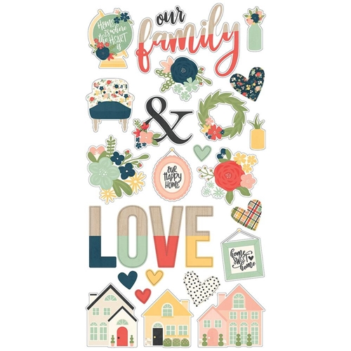 Simple Stories SO HAPPY TOGETHER 6 x 12 Chipboard Stickers 11714 Preview Image