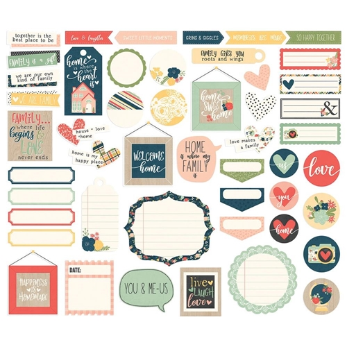 Simple Stories SO HAPPY TOGETHER Journal Bits And Pieces 11716 Preview Image