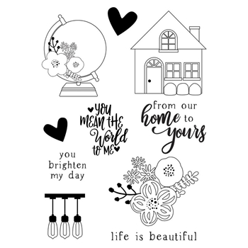 Simple Stories SO HAPPY TOGETHER Clear Stamp Set 11720