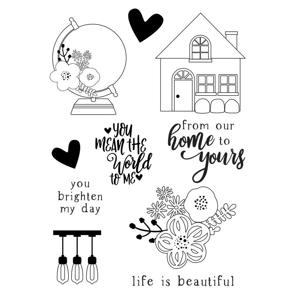 Simple Stories SO HAPPY TOGETHER Clear Stamp Set 11720 zoom image