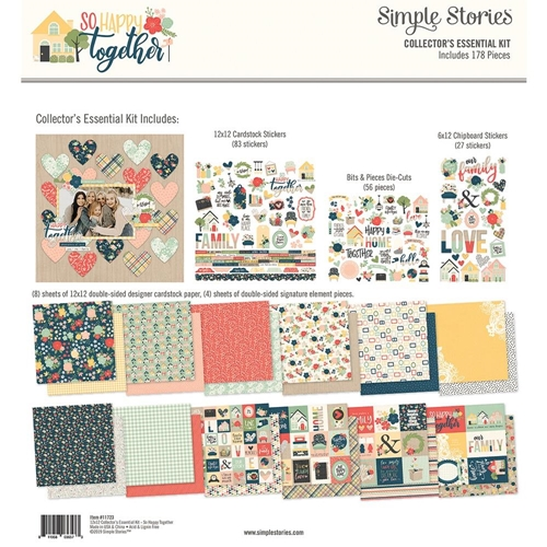 Simple Stories SO HAPPY TOGETHER 12 x 12 Collector's Essential Kit 11723 Preview Image