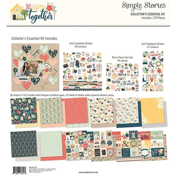 Simple Stories SO HAPPY TOGETHER 12 x 12 Collector's Essential Kit 11723