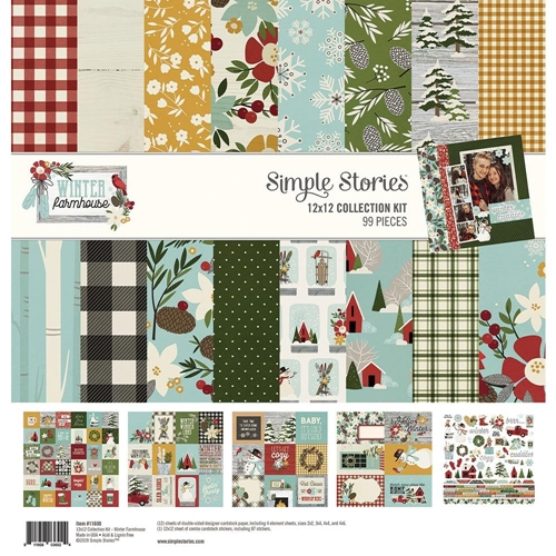 Simple Stories WINTER FARMHOUSE 12 x 12 Collection Kit 11600 Preview Image