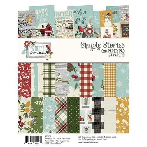 Simple Stories WINTER FARMHOUSE 6 x 8 Paper Pad 11618 Preview Image