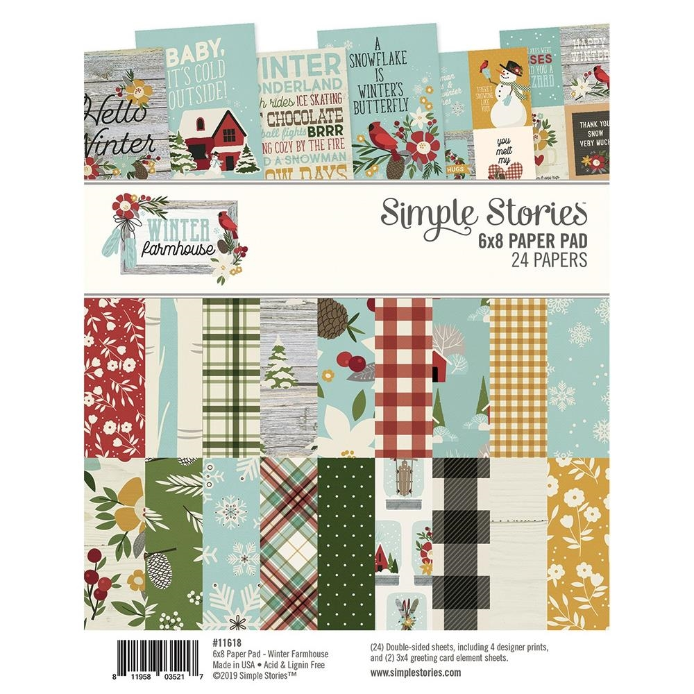 Simple Stories WINTER FARMHOUSE 6 x 8 Paper Pad 11618 zoom image