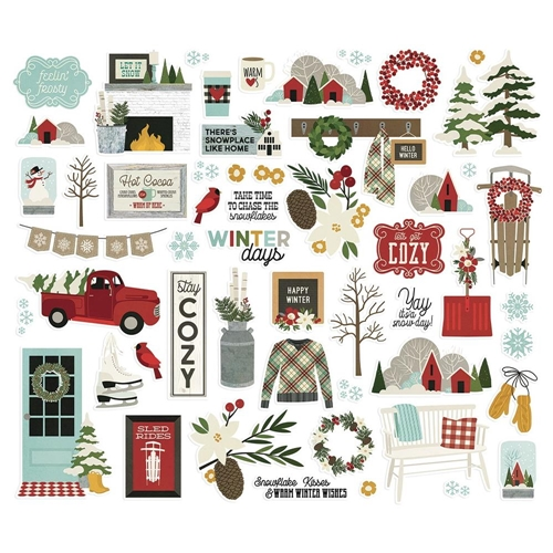 Simple Stories WINTER FARMHOUSE Bits And Pieces 11620 Preview Image