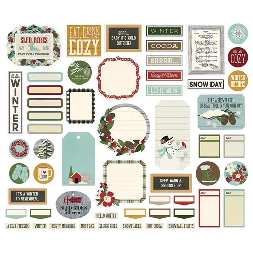 Simple Stories WINTER FARMHOUSE Journal Bits And Pieces 11621 Preview Image
