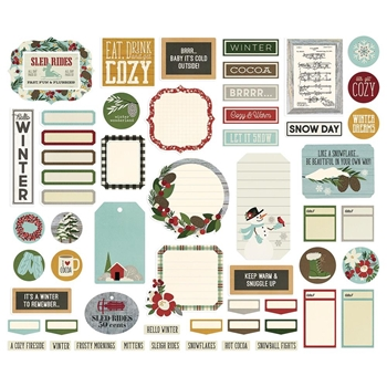 Simple Stories WINTER FARMHOUSE Journal Bits And Pieces 11621