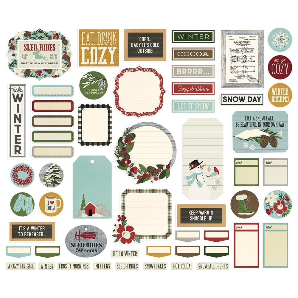Simple Stories WINTER FARMHOUSE Journal Bits And Pieces 11621 zoom image