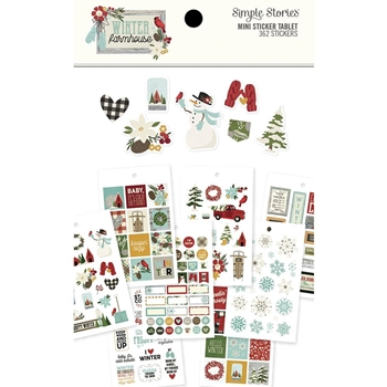 Simple Stories WINTER FARMHOUSE Mini Sticker Tablet 11622
