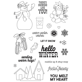 Simple Stories WINTER FARMHOUSE Clear Stamp Set 11626