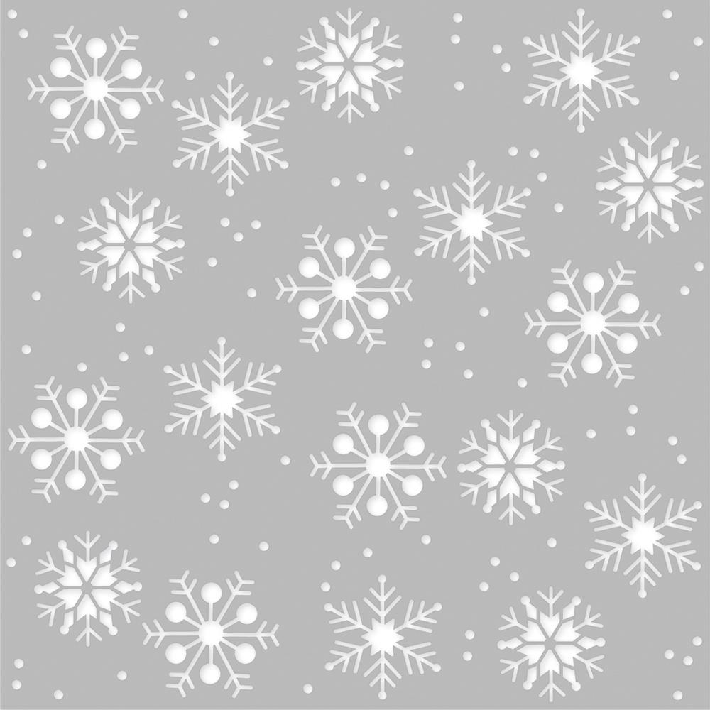 Simple Stories WINTER FARMHOUSE 6 x 6 Stencil 11628 zoom image